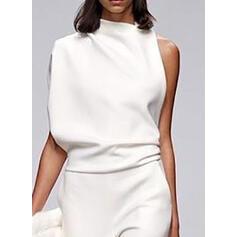 Einfarbig Stehkragen Ärmellos Lässige Kleidung Elegant Overall