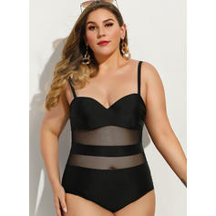 Solid Color Strap Sexy One-piece Swimsuits