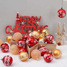 "Merry Christmas 24 PCS 2.36"" PVC Christmas Décor Ball (Set of 24)"