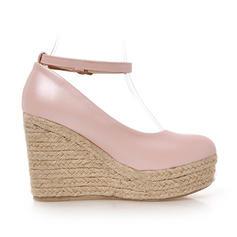 Naisten Keinonahasta Wedge heel Avokkaat Suljettu toe kengät