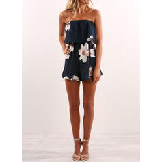 Floral Print Casual Vacation Rompers