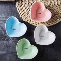 Formato de coração Porcelana Pratos De Sobremesa (conjunto De 4)