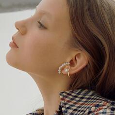 Elegante Liga com Pérola Imitação Conjuntos de jóias Moda Brincos (Conjunto de 2)