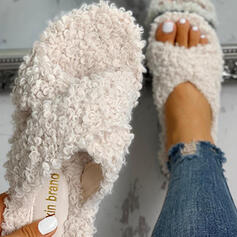Women's Fabric Flat Heel Slippers With Others shoes