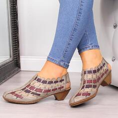 Femmes PU Talon bottier Sandales avec Ouvertes chaussures
