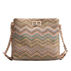 Unique/Stripe/Braided Straw Crossbody Bags/Shoulder Bags/Beach Bags