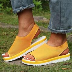 Femmes Mesh Talon plat Sandales Chaussures plates À bout ouvert Escarpins chaussures