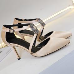 Women's Satin Stiletto Heel Pumps shoes