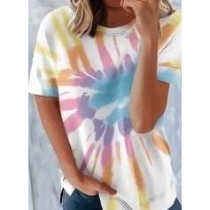 Tie Dye Round Neck Short Sleeves T-shirts