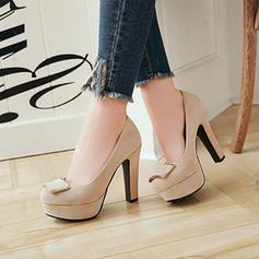 Femmes Suède Talon bottier Escarpins Plateforme avec Boucle chaussures