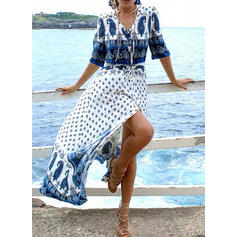 Print V-Neck Sexy Beautiful Attractive Cover-ups Swimsuits