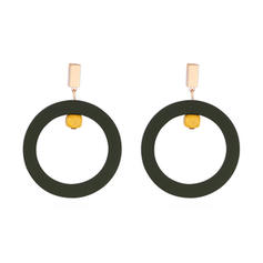 Stylish Alloy Acrylic Women's Fashion Earrings (Set of 2)