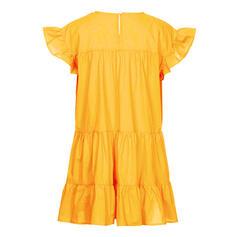 Sólido Manga Corta Tendencia Sobre la Rodilla Casual Vestidos