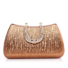 Fashional Patent Leather With Rhinestone Clutches