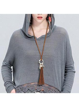 La modă Aliaj cu ciucuri Femei colier de moda