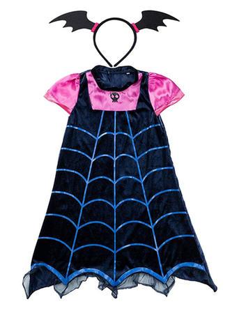 Mädchen Rundhals Drucken Lässige Kleidung Niedlich kühlen Party Urlaub Kleid