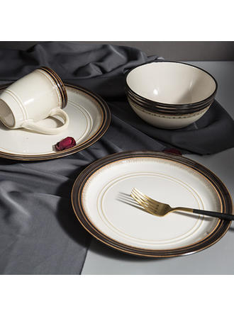 Classic Porcelain Dinnerware Sets (Set of 4)