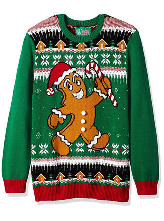 Unisex Polyester Print Cartoon Ugly Christmas Sweater