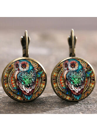 Boho Alloy Glass Earrings (Set of 2)
