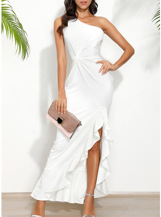 Solid Sleeveless Sheath Party/Elegant Maxi Dresses