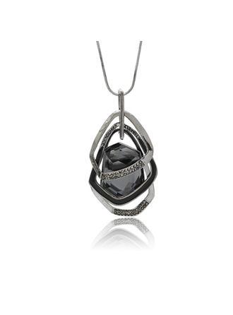 Stylish Alloy Rhinestones Glass With Rhinestone Women's Fashion Necklace (Sold in a single piece)