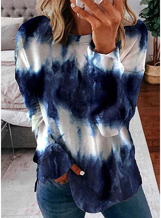 Tie Dye Round Neck Long Sleeves Sweatshirt