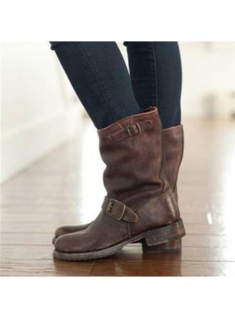 Dámské PU Nízký podpatek Lodičky Boty S Přezka obuv