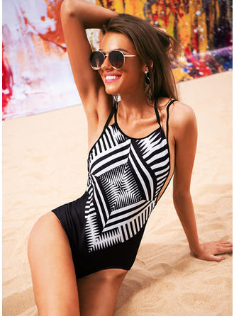 Plaid Halter Sexy One-piece Swimsuits
