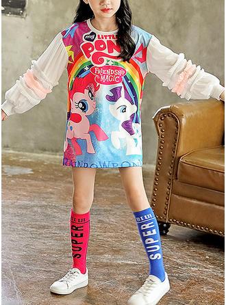 Dziewczyny Okrągły Dekolt Wydrukować Zwierzę Nieformalny Sukienka