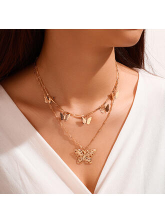 Butterfly Shaped Alloy Necklaces