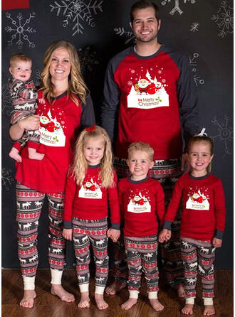 Joulupukki Poro Letter Perhe vastaavia Joulu Pyjama