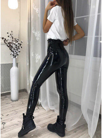 Solid Long Sexy Long Skinny Pants