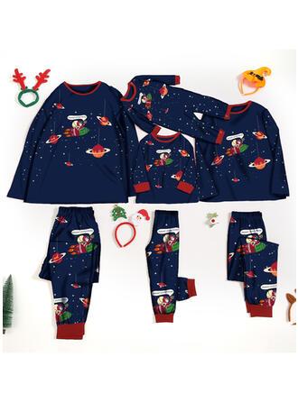 Schreiben Karikatur Passende Familie Christmas Pajamas