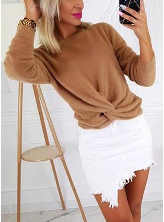 Polyester Plain Sweatshirt