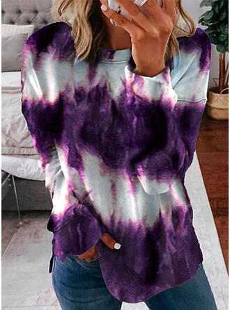 Tie-Dye Col rond Manches longues Sweat-shirts