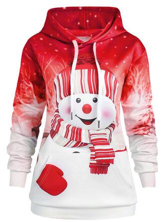 Print Christmas Long Sleeves Christmas Sweatshirt