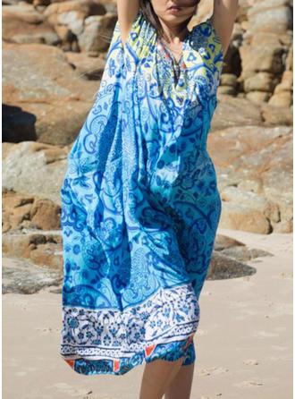 Imprimé Tropical Col V Sexy Élégante À La Mode Tenues de plage Maillots De Bain