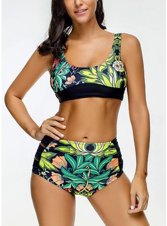 Fleuris À Bretelles Jolis Grande taille Bikinis Maillots De Bain
