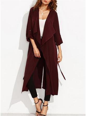 Cotton Long Sleeves Plain Cardigans
