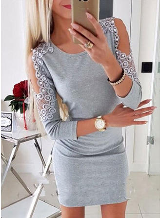3/4 Sleeves Above Knee Dresses