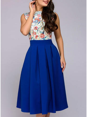 Sleeveless A-line Knee Length Vintage Dresses