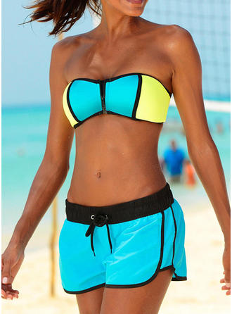 Splice color Strap Sports Bikinis Swimsuits