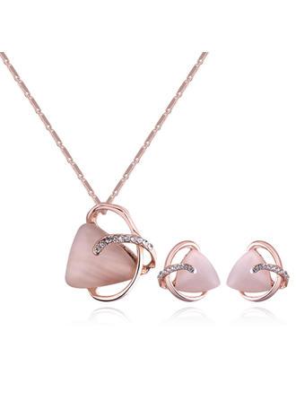 Świecący Stop Cyrkonie Z Stras/ Krysztal Górski Dla kobiet Zestawy biżuterii (Zestaw 2)
