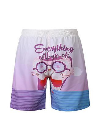 Pour des hommes Inmprimé Shorts de bain Maillot de bain
