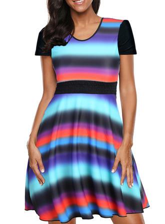 Proužek Na ramínka Krásné Plavkové šaty Costume de baie