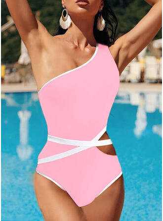 High Cut One-Shoulder Sports One-piece Swimsuits