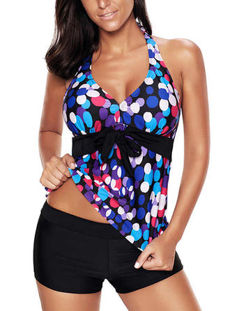 Dot Halter Elegant Tankinis Swimsuits