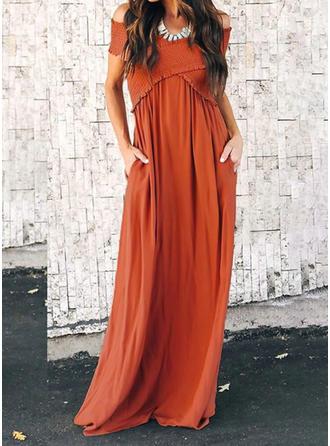Solidny Dekolt typu Carmen Maxi Sukienkę przesunąć