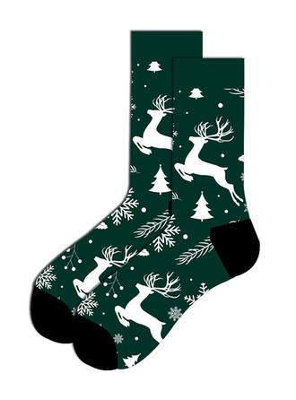 Tisk/Christmas Reindeer Komfortní/Vánoce/Posádkové ponožky/Unisex Ponožky