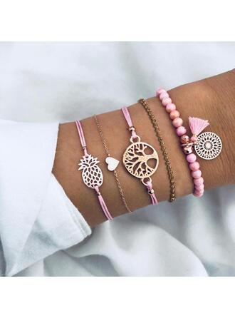 Alloy Bracelets Beach Jewelry (Set of 5)